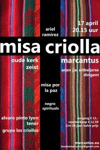 poster missa criolla klein